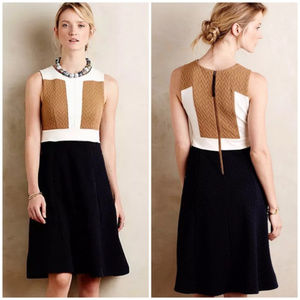 Anthropologie Cable Knit Colorblock Sweater Dress